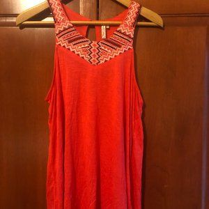 Red camel Coral Tank Size Large NWT